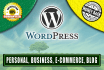 make a Business WORDPRESS Website professionally for you
