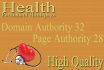 give You DA68 Health Niche Permanent Homepage