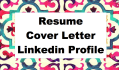 write your resume, cover letter, linked profile