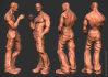 provide 3d rigged human or zombie models