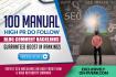 do 100 Manual High TRUSTFLOW Dofollow Backlinks