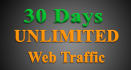 drive Real UNLIMITED website traffic for one month or more