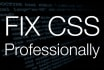 professionally fix any CSS issue