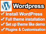 install a wordpress theme and set it up like demo in 3 hours