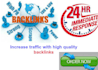 do high quality SEO backlinks to rank you higher on search engines
