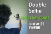 make your double selfie