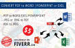 convert PDF to Word, Excel or PowerPoint