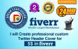 design custom twitter cover and facebook cover