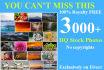 send you 3000 HQ royalty free stock photos
