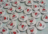 make 10 Valentine buttons for your sweetie