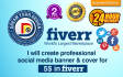 create professional social media banner and cover