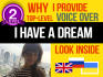 do AWESOME voice over in russian, english or ukrainian