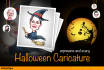 draw awesome Halloween Caricature