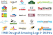 design 2 AMAZING Logo in 24 hrs With Free Source Files