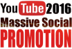 do MASSIVE Video Targeted Social Promotion for High Traffic