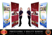 design an Awesome and UNIQUE Roll Up Banners