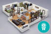 turn your 2D drawings into photo realistic 3D floor plan