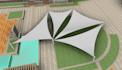 3d model Tensile Structure in Revit or Sketchup