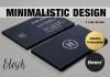 design a minimalistic business card