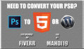 convert PSD to html Template or Custom WordPress Theme