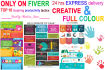 make a infographic COLORFUL and creative design