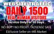 send usa,super,targeted website, traffic, 1500 daily visitors