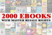 give you 2000 PLR Ebooks with full resell rights