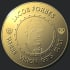 creat a gold coin logo with your image and text