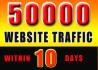 send 50000 Website Traffic, to Blog or Affiliate Link