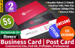 design stylish and professional BUSINESS Card and Post Card