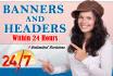 create an attractive Banner or a Header