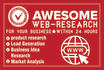 do awesome web research for your business within 24 hours