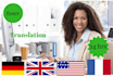 provide FLAWLESS English French Translation for you