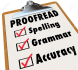 proofread, correct and edit your work