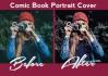 comic Book Album Cover Style