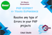 resolve problems in your php projects in 24 Hours