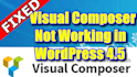 solve errors of visual composer in latest version wordpress