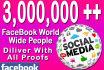promote your link 3,000,000 real facebook member