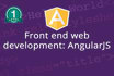 develop Angular js web application for you
