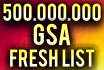 sell GSA Se Ranker Lists Fresh 500000000 links