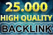 build 25000 authority backlinks for Google ranking