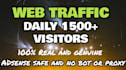 drive USA based website,visitors, Daily 1500 plus