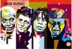 make your portrait colorful Pop Art into WPAP
