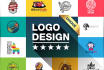 do PROFESSIONAL logo design with Full Files in 48h
