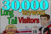 drive Longtail Keyword,Targeted,Real Website,Visitors