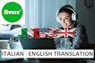 translate from English to Italian and Italian to English