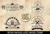 design retro vintage LOGO, badge, stamp