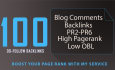 100 High PR DoFollow Blog Comments Backlinks pr2 to pr6