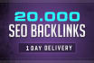 build 20000 authority backlinks for Google ranking