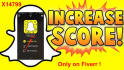 provide you 11000 Snapchat score